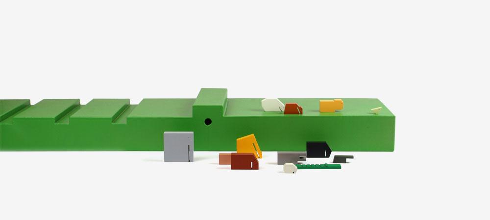 XXL Design Object Crocodile Floris Hovers