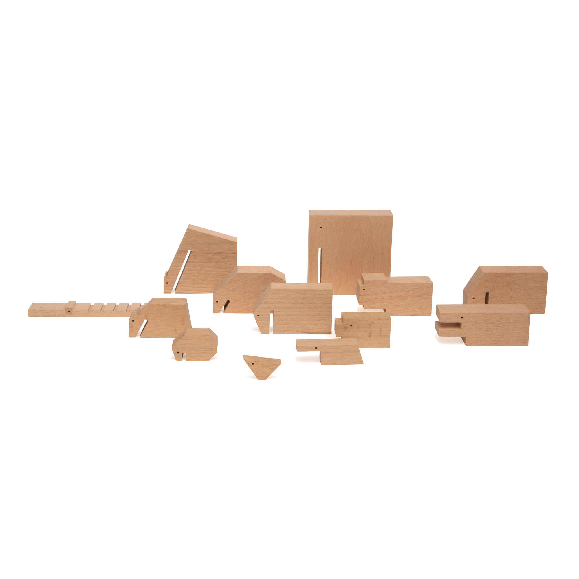 Ikonic Toys Floris Hovers Wooden Animals - wood colour