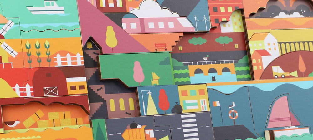 Kars + Boom Wooden Design Puzzle