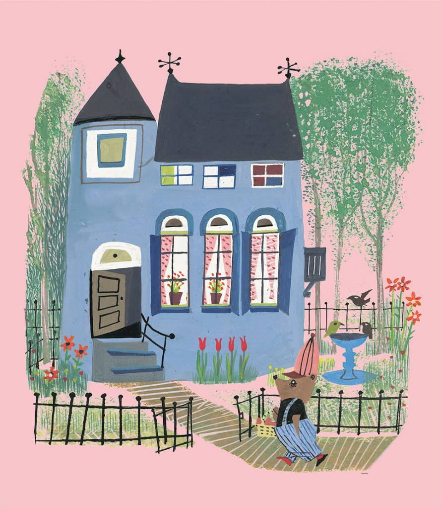 Kek Amsterdam Photo wallpaper 'Bear in front of the blue house'