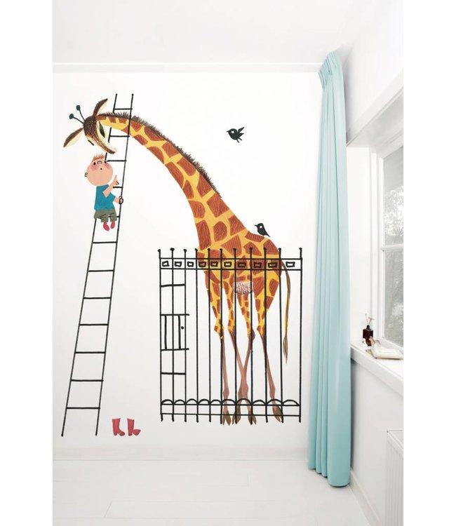 Photo wallpaper 'Giant Giraffe / Dikkertje Dap', Fiep Westendorp