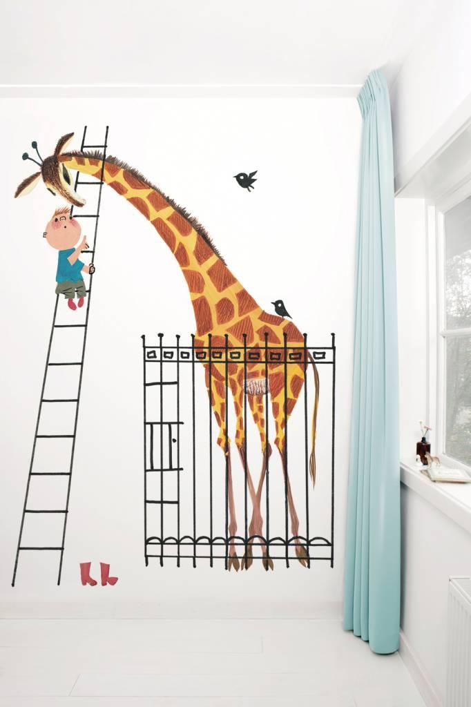 Kek Amsterdam Photo wallpaper 'Giant Giraffe / Dikkertje Dap', Fiep Westendorp