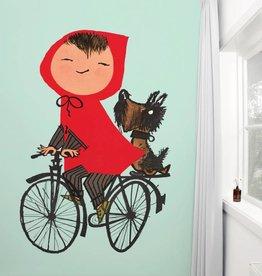 Kek Amsterdam Fiep Westendorp Photo Wallpaper 'Cycling', green