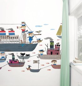 Kek Amsterdam Fiep Westendorp Fotobehang 'Bootjes' / Holland Amerika Lijn