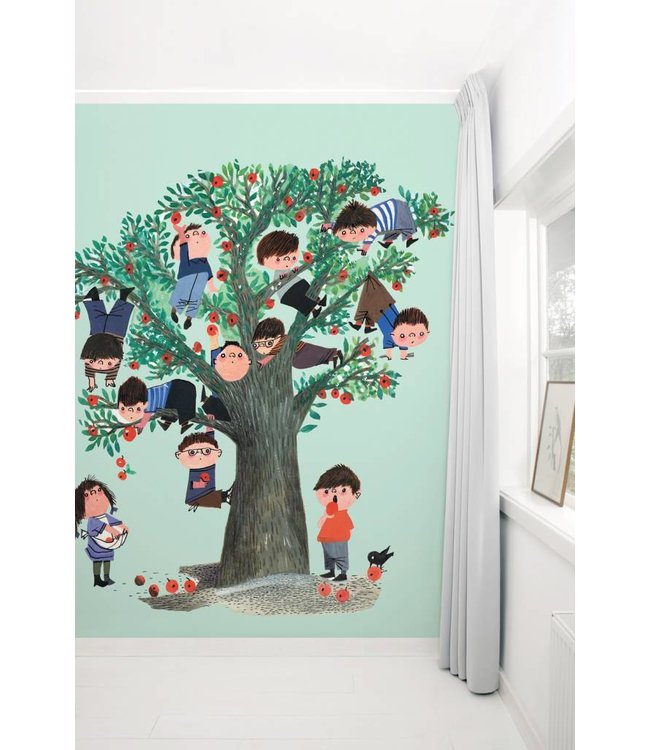 Wallpaper Apple Tree, green - Fiep Westendorp