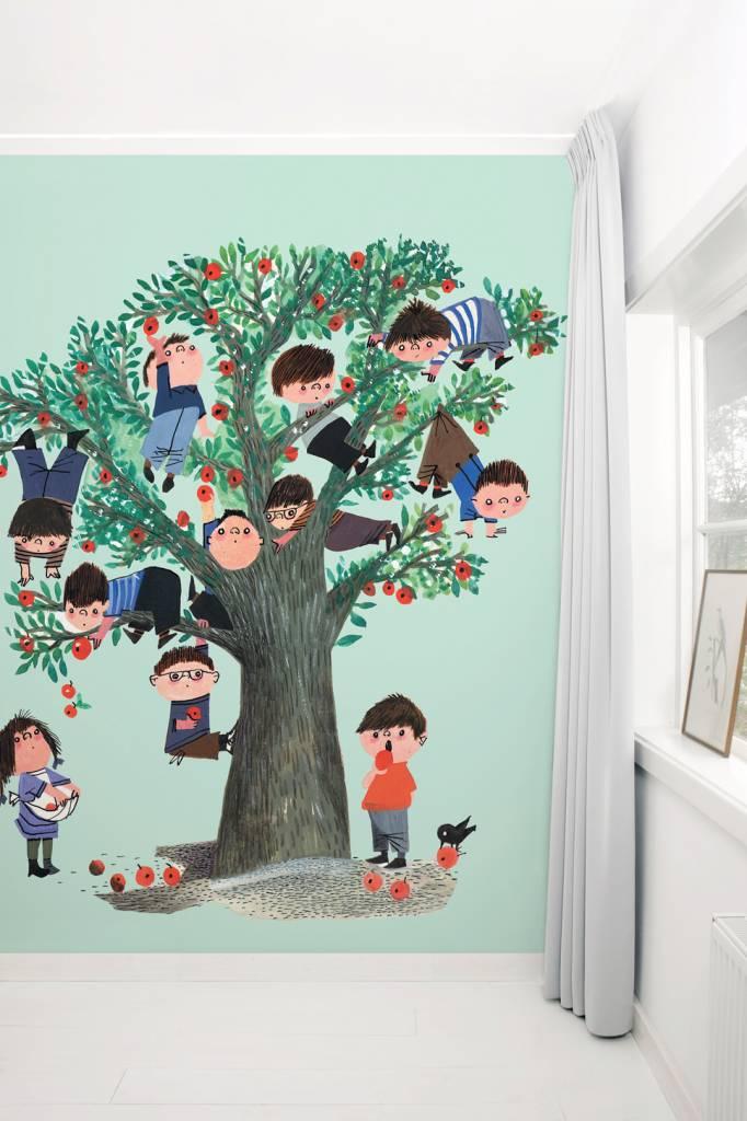 Kek Amsterdam Wallpaper Apple Tree, green - Fiep Westendorp