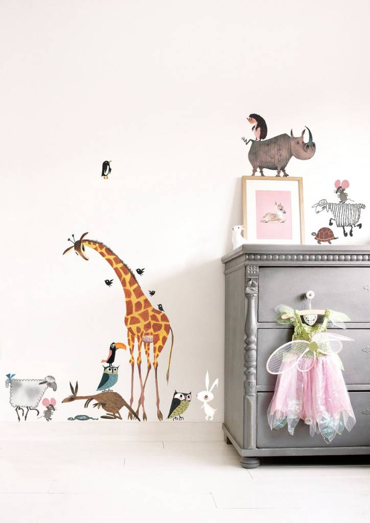 Muursticker Giraffe Kinderkamer.Muurstickers Dieren Xl Fiep Westendorp Kek Amsterdam Fiep