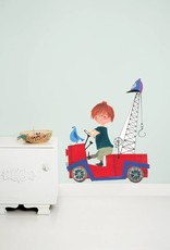 Kek Amsterdam Wall Sticker 'The Red Tow Truck' (XL)
