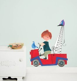 Kek Amsterdam Wall Sticker 'The Red Tow Truck' (XL)