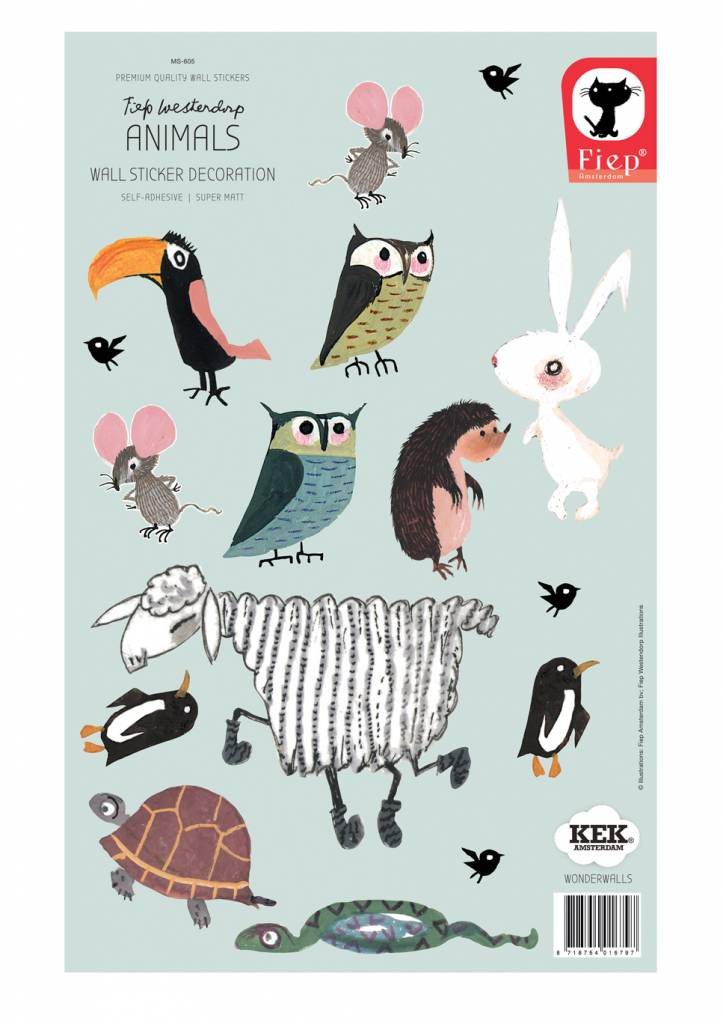 Kek Amsterdam Wall stickers Animals (small set) - Fiep Westendorp