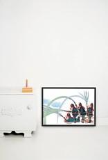Kek Amsterdam Poster 'Brandweer',  60 x 42 cm