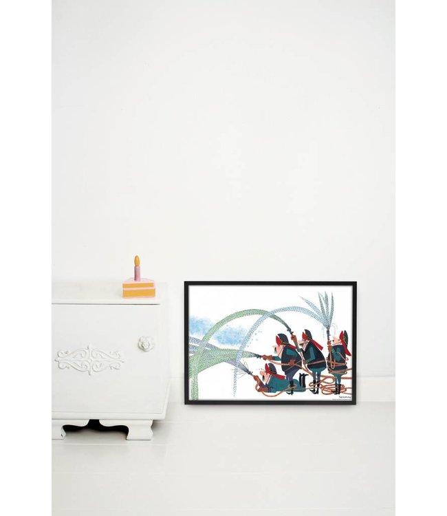 Poster 'Fire Department',  60 x 42 cm
