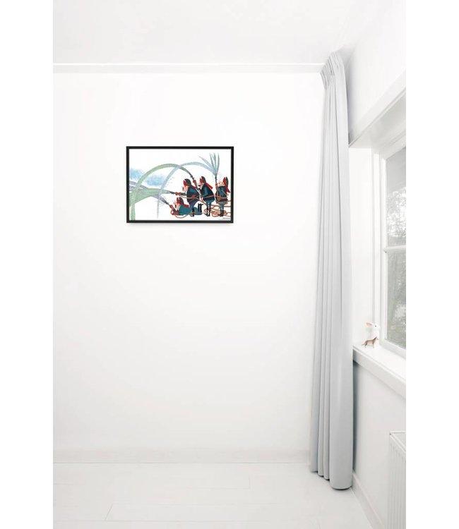 Poster 'Brandweer',  60 x 42 cm