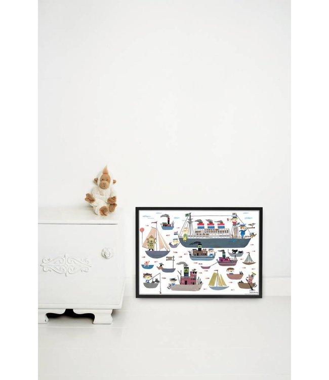 Kek Amsterdam Poster 'Holland America Line', 60 x 42 cm