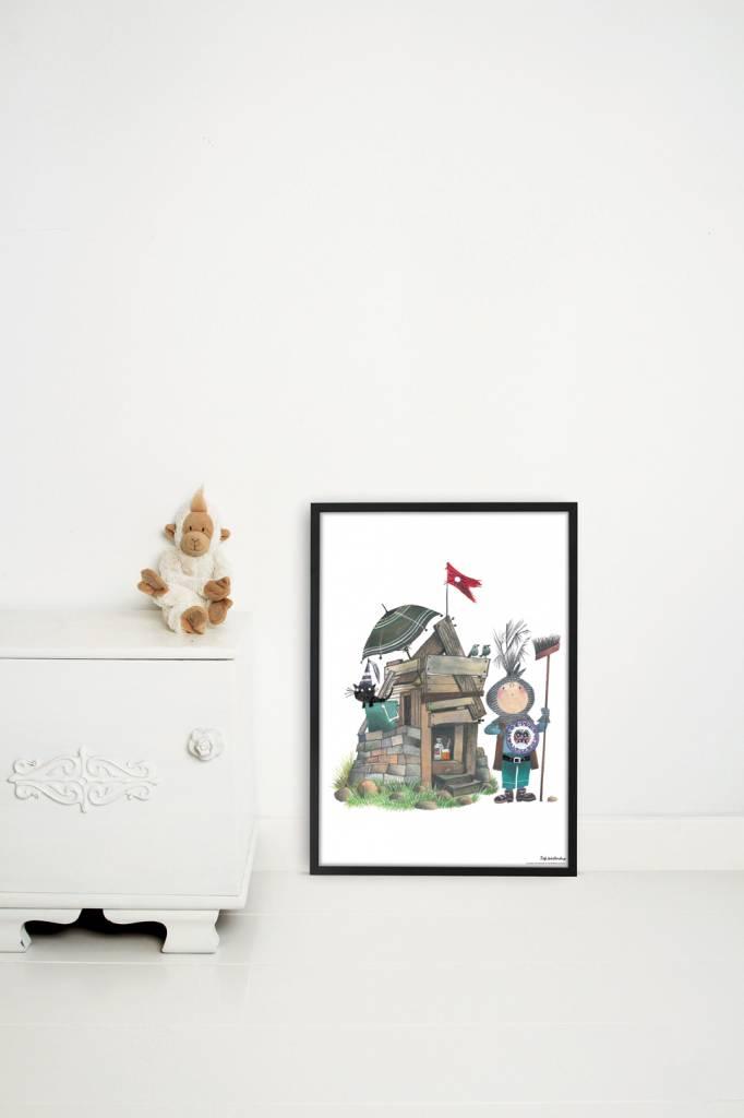 Kek Amsterdam Poster 'Small Knight', 42 x 60 cm