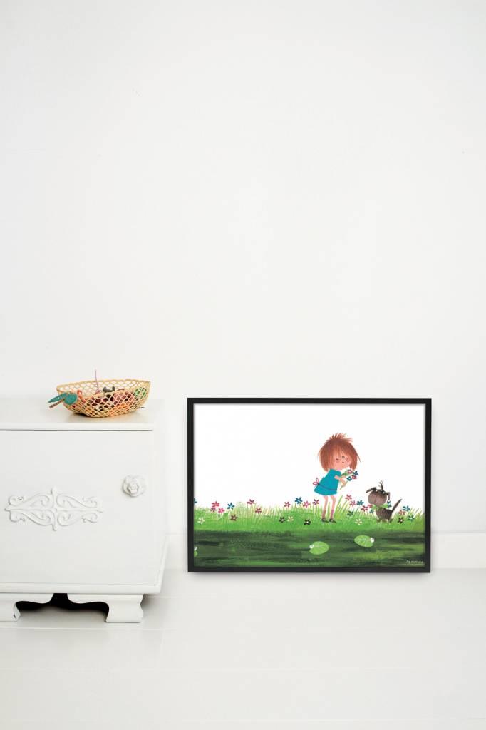 Kek Amsterdam Poster 'Picking flowers', 60 x 42 cm
