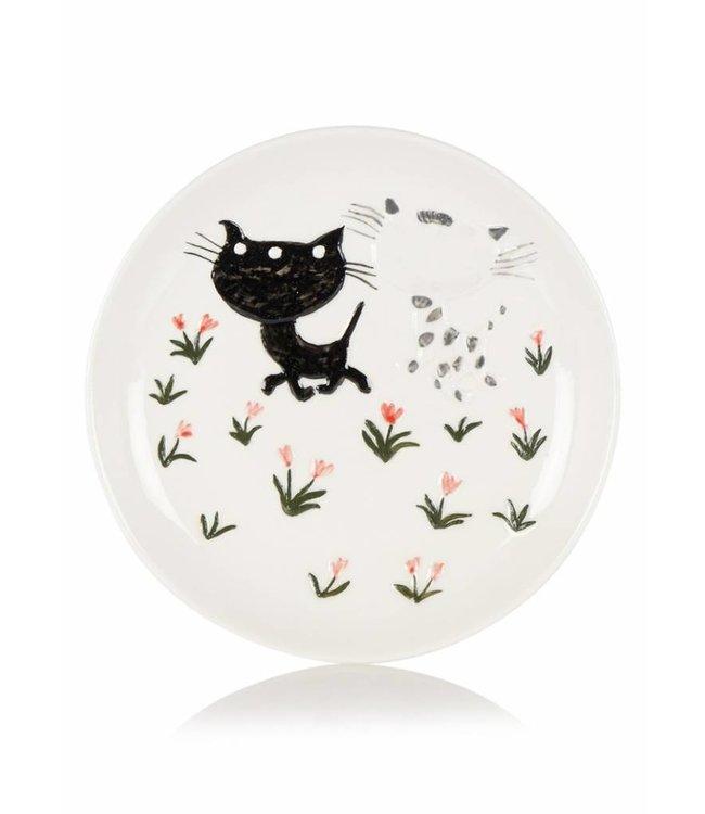 Porcelain Pim en Pom Plate