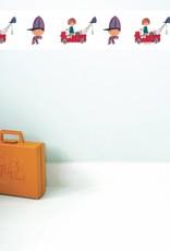Kek Amsterdam Wallpaper Border 'The Red Tow Truck' - Fiep Westendorp