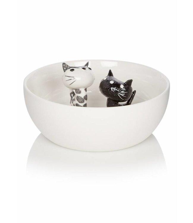 Bowl 'Pim and Pom', porcelain