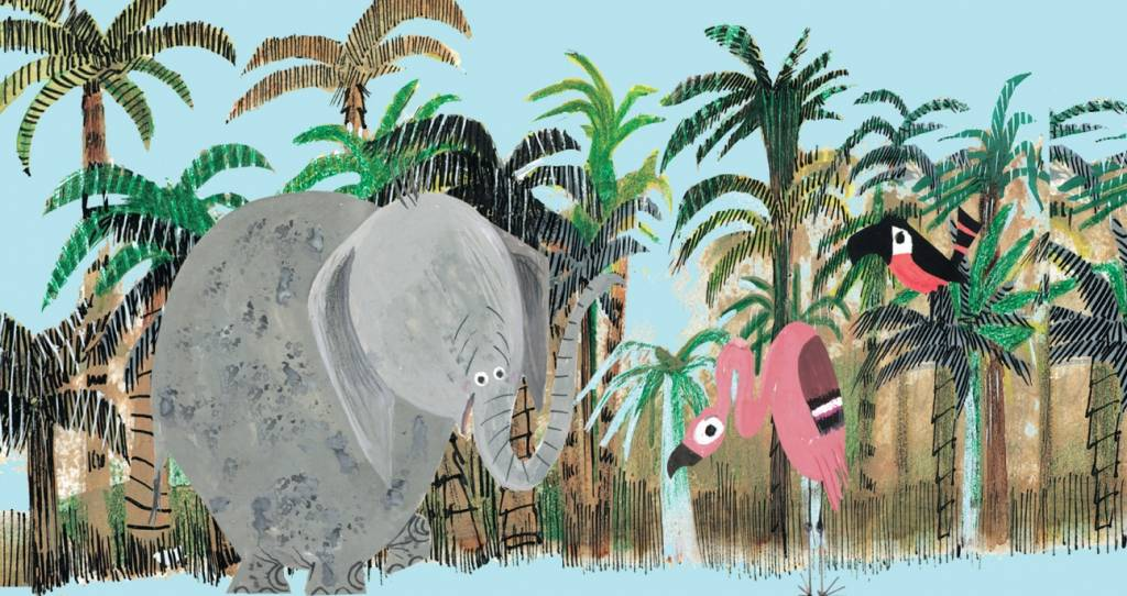 Studio Roof Tiny Story Pop Out Cards, Jungle Elephant