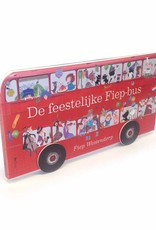 Querido The festive Fiep-bus, cardboard book with spinning wheels