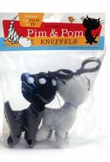 Fiep Amsterdam BV Pim en Pom, pluche knuffels met sleutelhanger, 10 cm