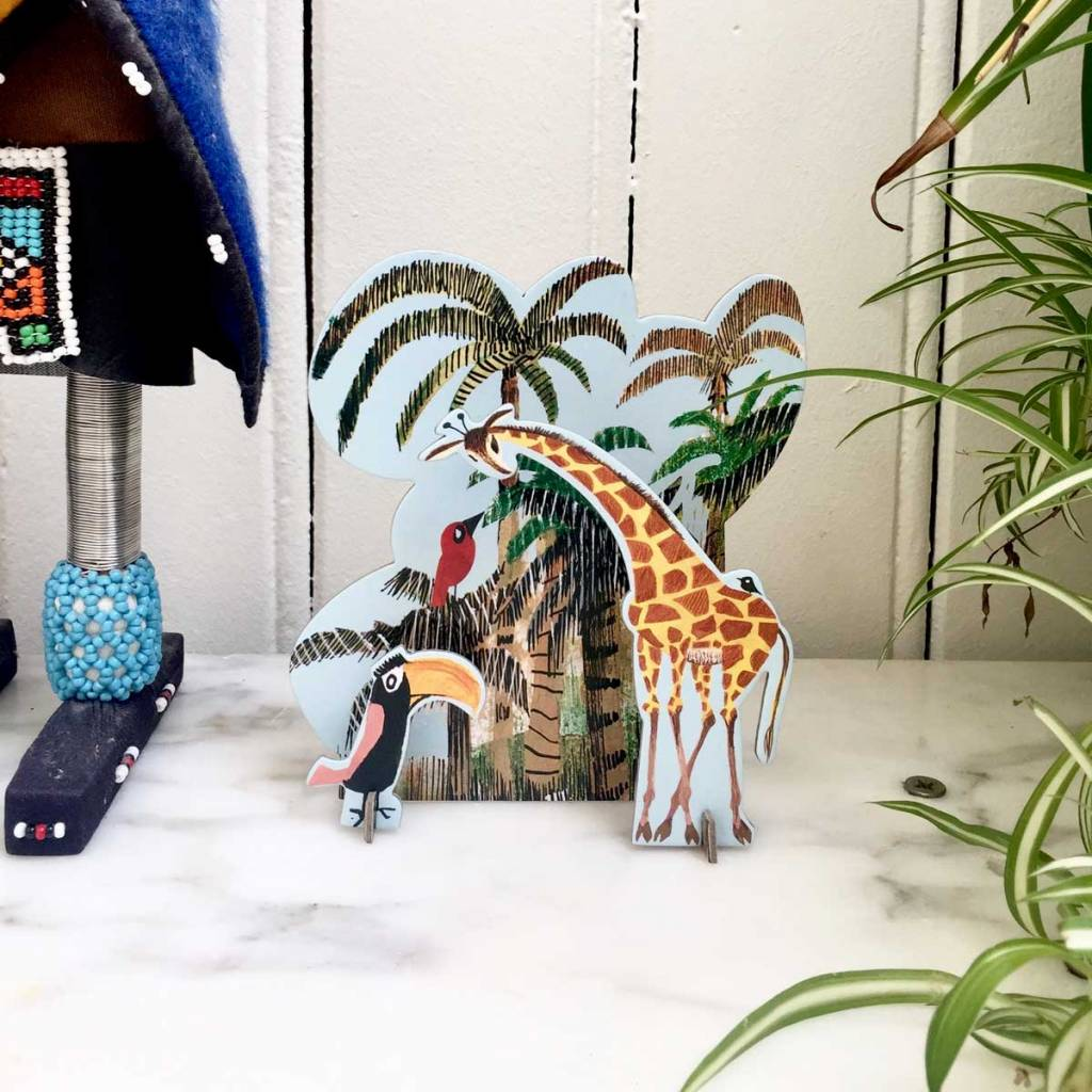 Studio Roof Pop-Out Card: 'Jungle Giraffe'