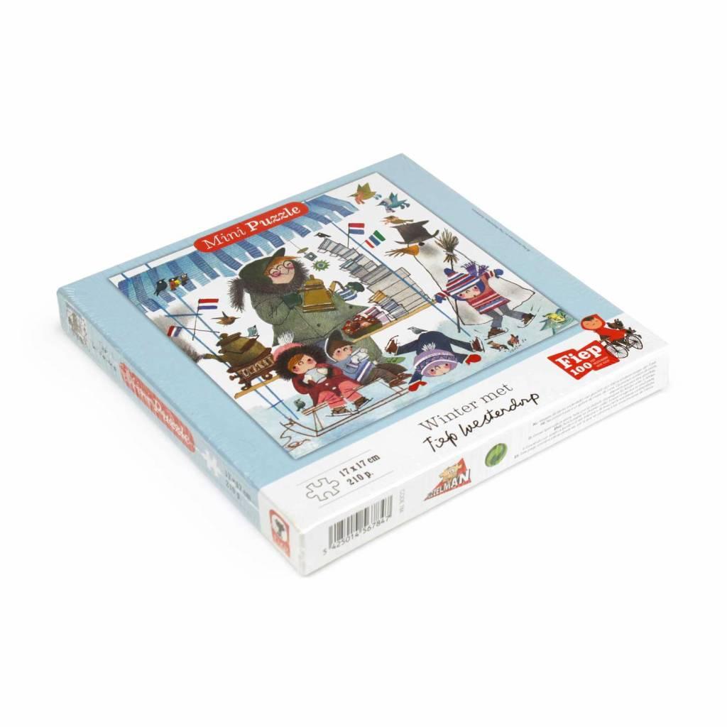 Puzzelman Fiep Westendorp Mini Puzzle 'Winter with Koek & Sopie' (210 pcs)