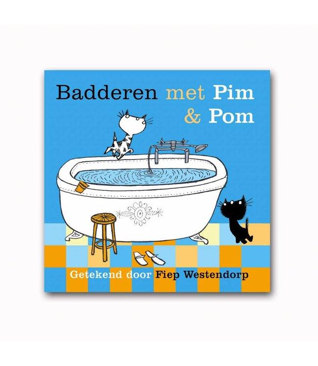 Badderen met Pim en Pom (badboekje) - Mies Bouhuys