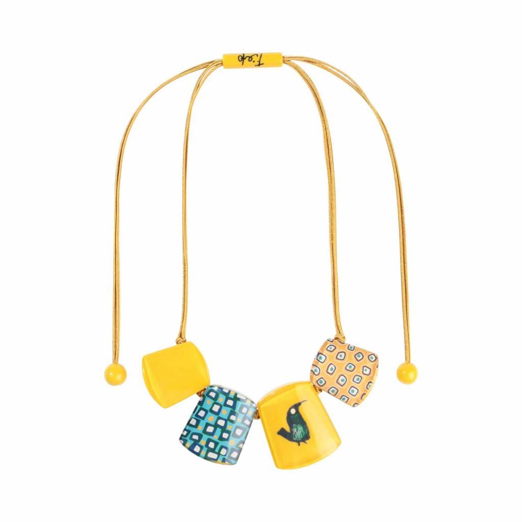 Zsiska Necklace 'Bird' yellow- Fiep Westendorp - Zsiska