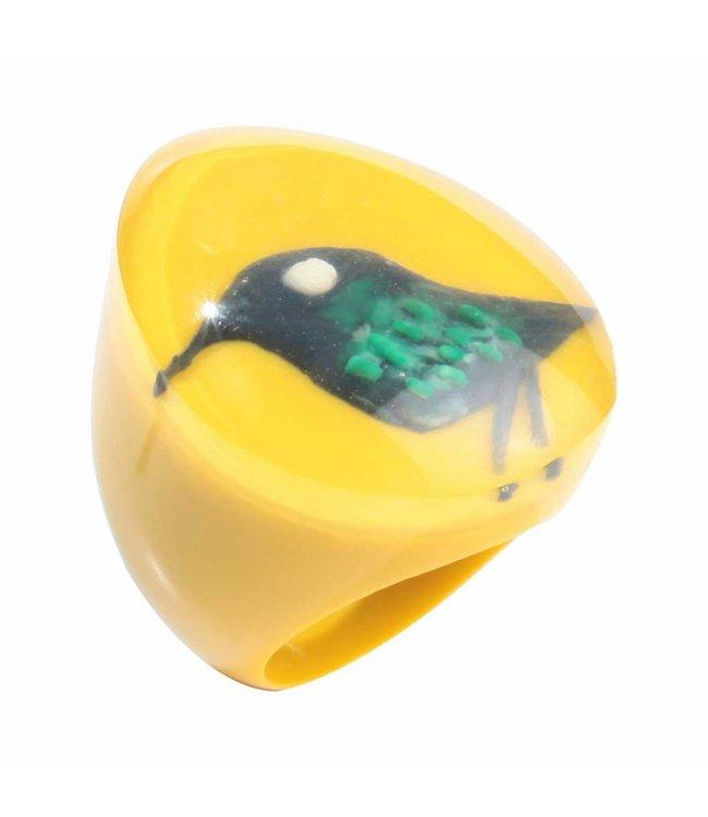 Zsiska Ring 'Bird' yellow - Fiep Westendorp - Zsiska