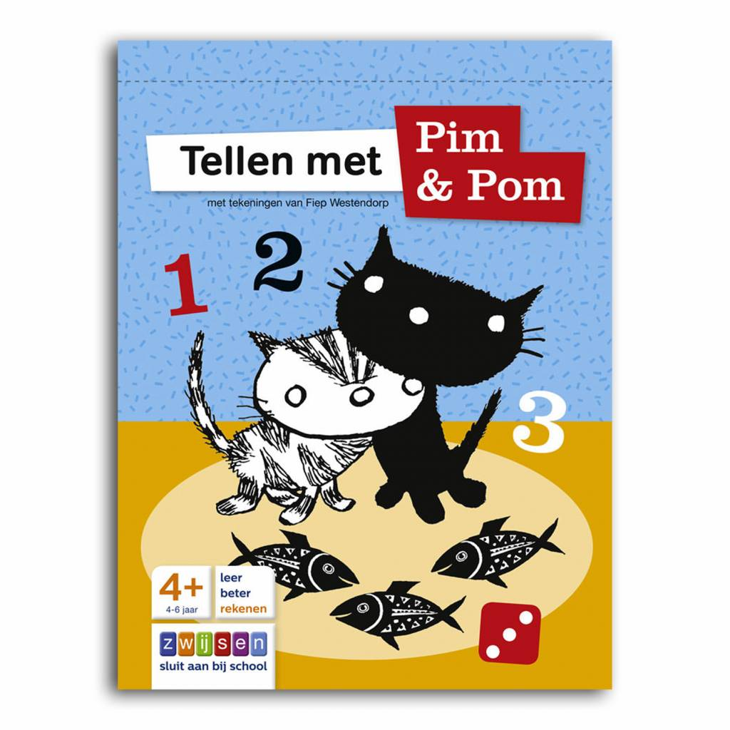 Tellen met Pim en Pom (counting with Pim and Pom) - Doeblok