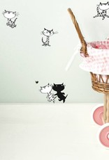 Kek Amsterdam Wall stickers Pim and Pom - small set - Fiep Westendorp