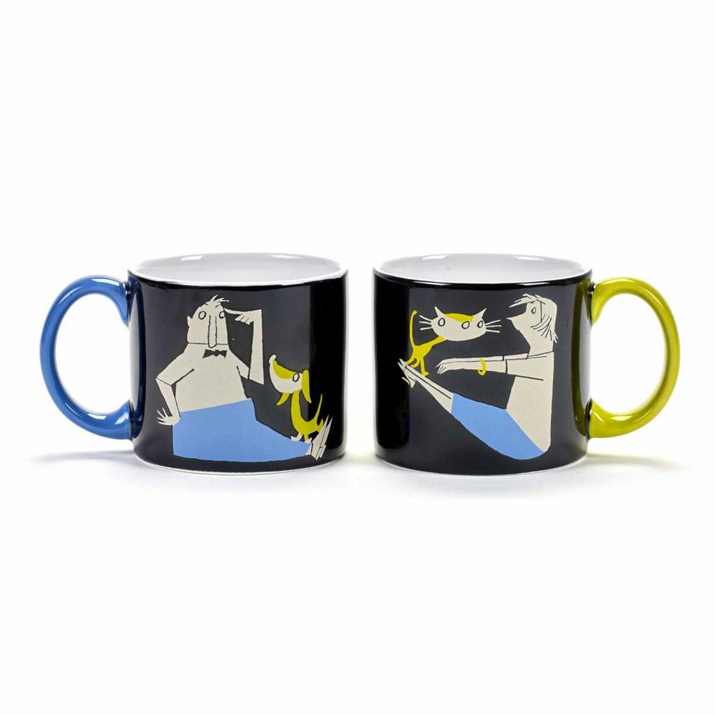Serax Mugs 'Stay Fit', set of 2, Fiep Westendorp
