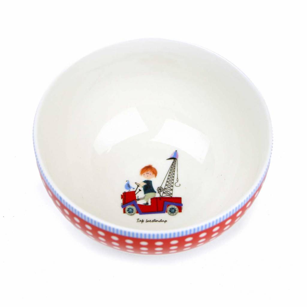 Fiep Amsterdam BV Bowl - The Red Tow Truck (white-red)