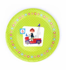 Fiep Amsterdam BV Paper Plates 'The Red Tow Truck'