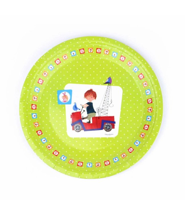 'The Red Tow Truck' Paper Plates