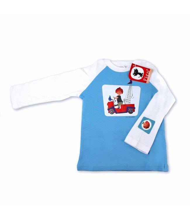 Longsleeve T-Shirt 'De Rode Kraanwagen' - Fiep Westendorp