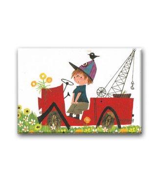 Bekking & Blitz Tow Truck Pluck, tow truck, Fridge Magnet