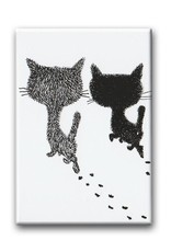 Bekking & Blitz Pim and Pom walking, Fridge Magnet. Illustration by Fiep Westendorp