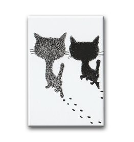 Bekking & Blitz Pim and Pom walking away, Fridge Magnet