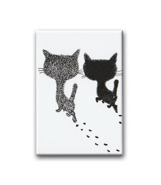 Pim en Pom lopen weg, koelkastmagneet. Illustratie van Fiep Westendorp