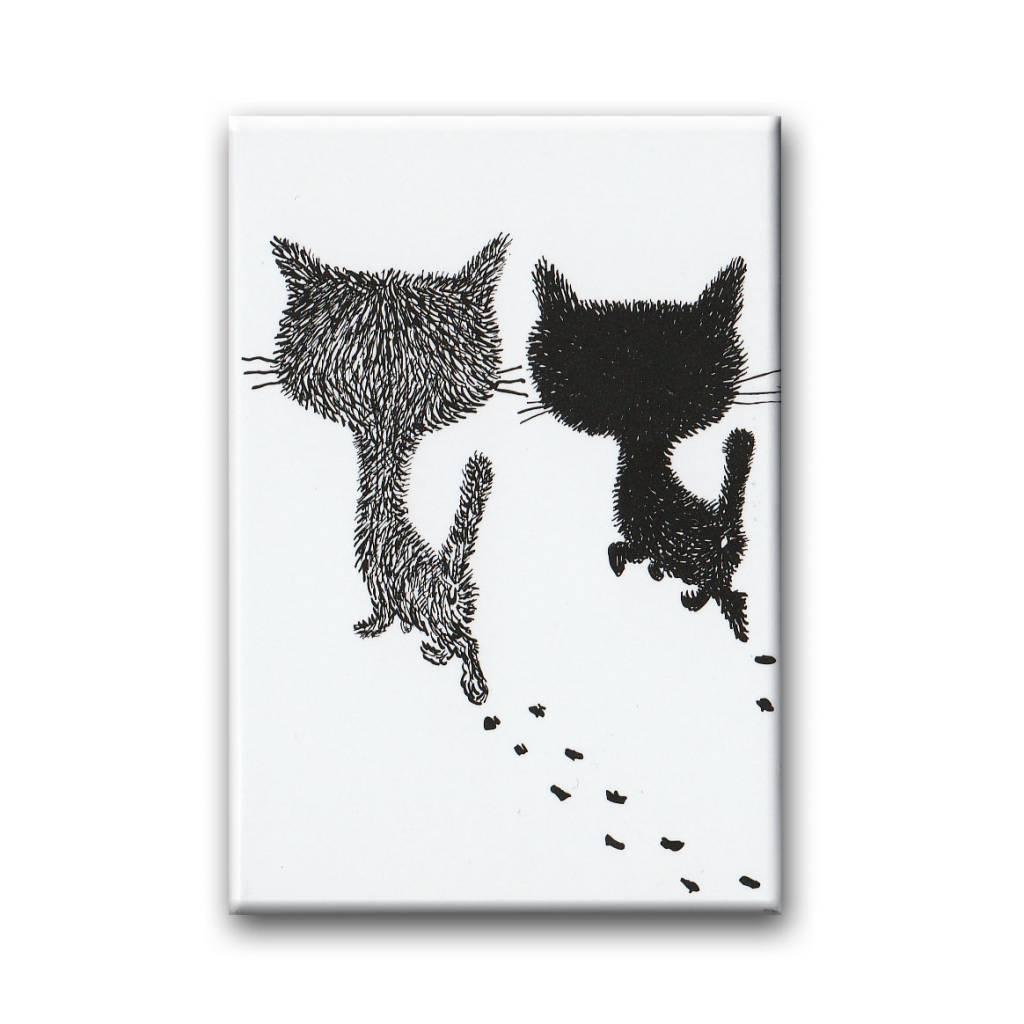Bekking & Blitz Pim en Pom lopen weg, koelkastmagneet. Illustratie van Fiep Westendorp