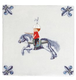 StoryTiles Fiep Westendorp Tile 'A Knight on Horseback'