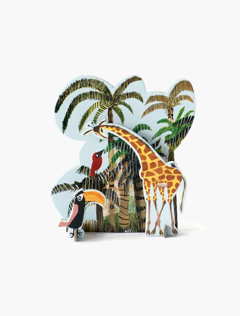 Studio Roof Tiny Story Pop Out Cards, Jungle Giraffe