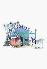 Studio Roof Pop-Out Card: 'De kleine boerderij'