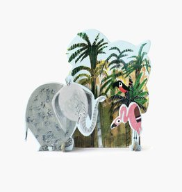 Studio Roof Pop-Out Card: 'Jungle Olifant'