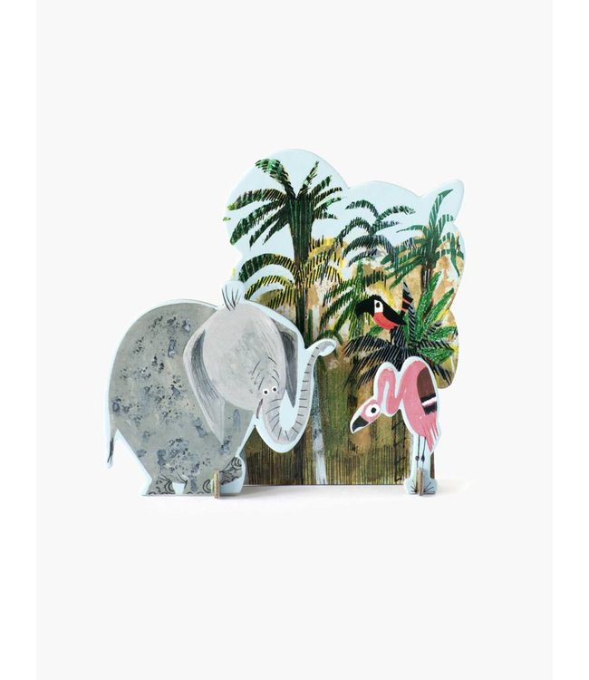 Tiny Story Pop Out Cards, Jungle Elephant