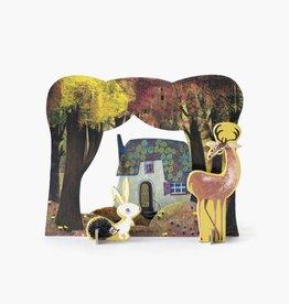 Studio Roof Pop-Out Card: 'Huisje in het bos'