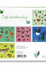 Bekking & Blitz Ansichtkaartenmapje, 'Dieren' - Fiep Westendorp